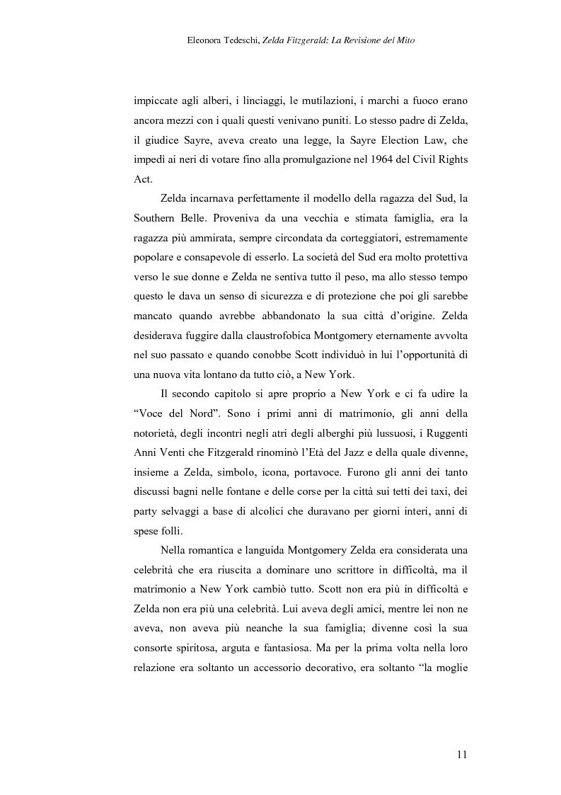 Anteprima della tesi: Zelda Fitzgerald: La Revisione del Mito, Pagina 11