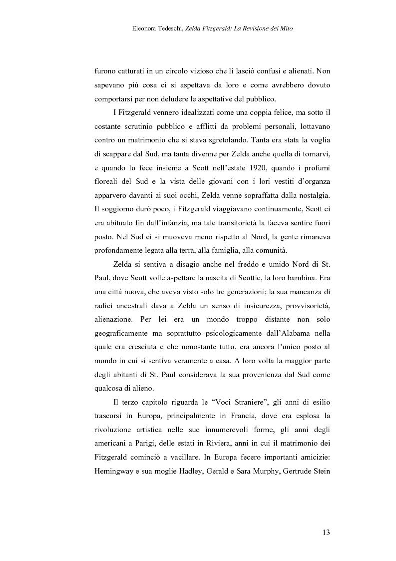 Anteprima della tesi: Zelda Fitzgerald: La Revisione del Mito, Pagina 13