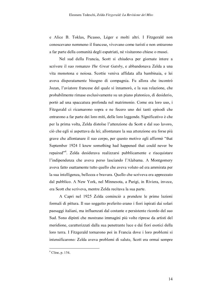 Anteprima della tesi: Zelda Fitzgerald: La Revisione del Mito, Pagina 14