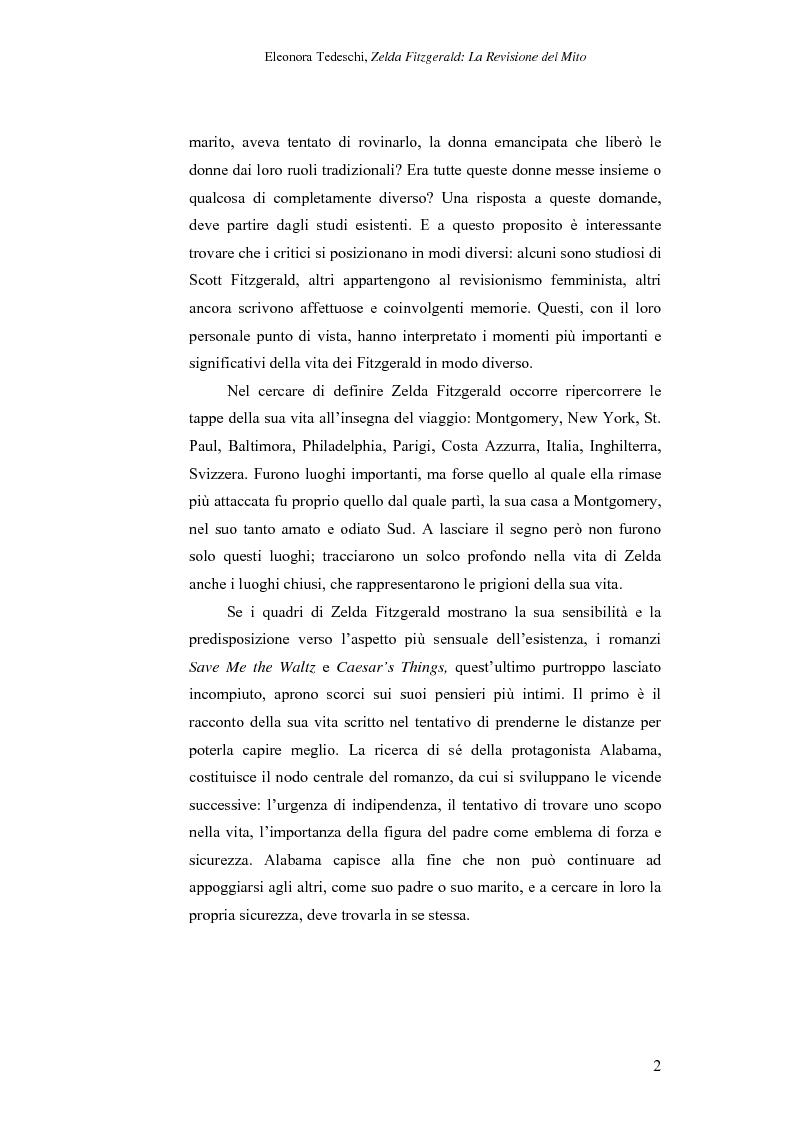 Anteprima della tesi: Zelda Fitzgerald: La Revisione del Mito, Pagina 2