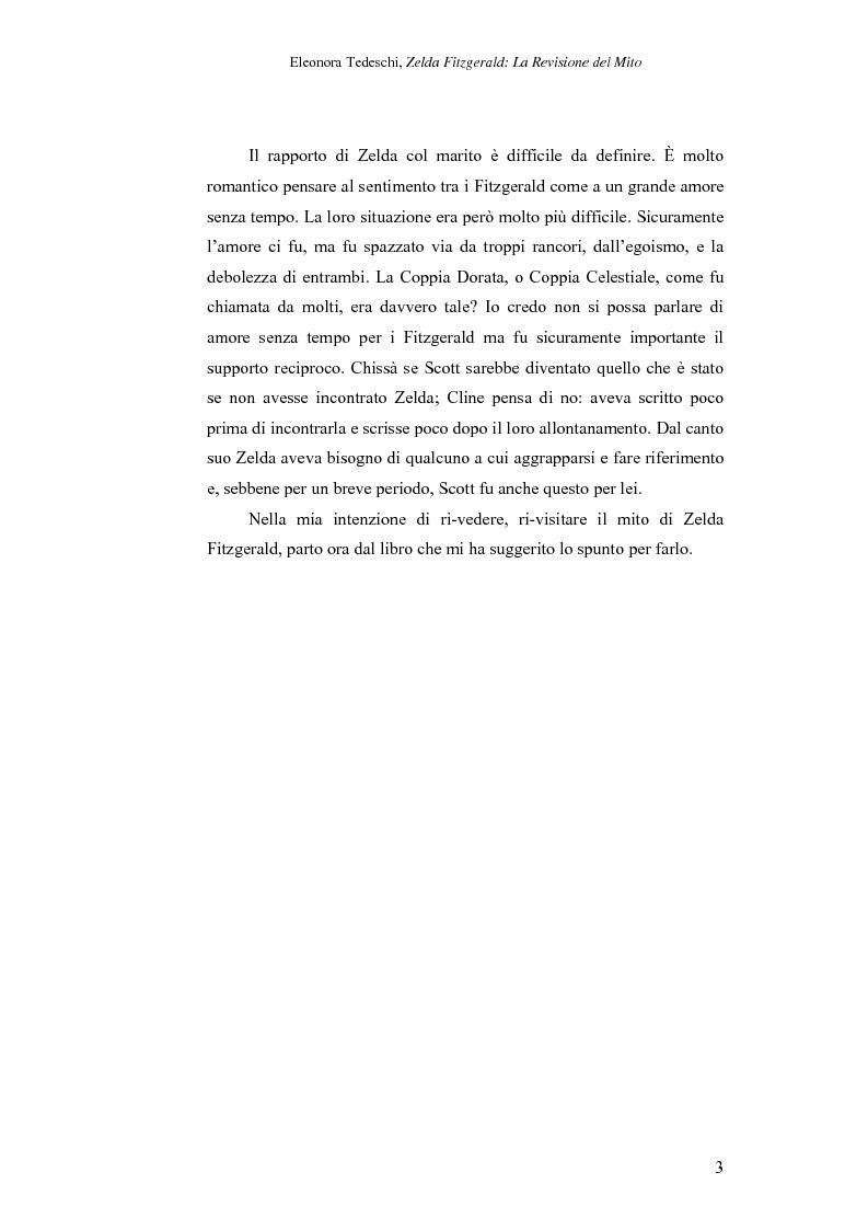 Anteprima della tesi: Zelda Fitzgerald: La Revisione del Mito, Pagina 3