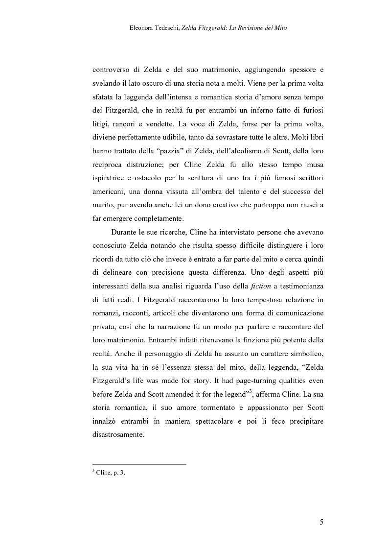 Anteprima della tesi: Zelda Fitzgerald: La Revisione del Mito, Pagina 5