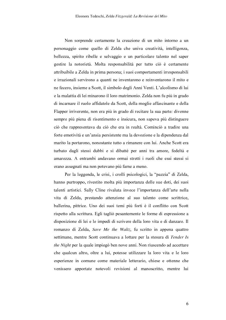 Anteprima della tesi: Zelda Fitzgerald: La Revisione del Mito, Pagina 6