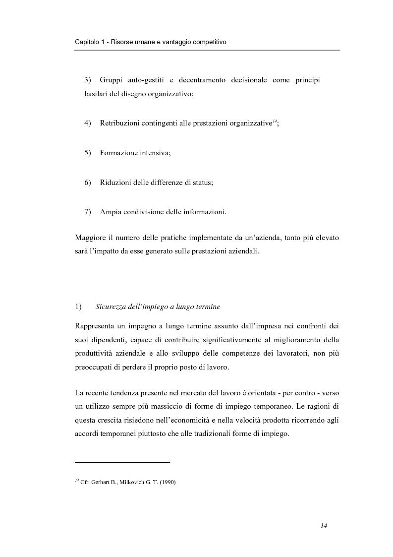 Anteprima della tesi: Investire in risorse umane: il ruolo della formazione - Il caso Wind, Pagina 11