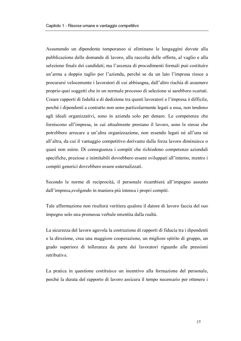 Anteprima della tesi: Investire in risorse umane: il ruolo della formazione - Il caso Wind, Pagina 12