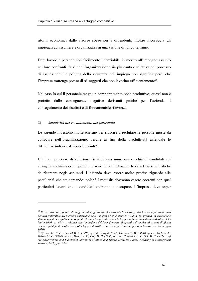Anteprima della tesi: Investire in risorse umane: il ruolo della formazione - Il caso Wind, Pagina 13