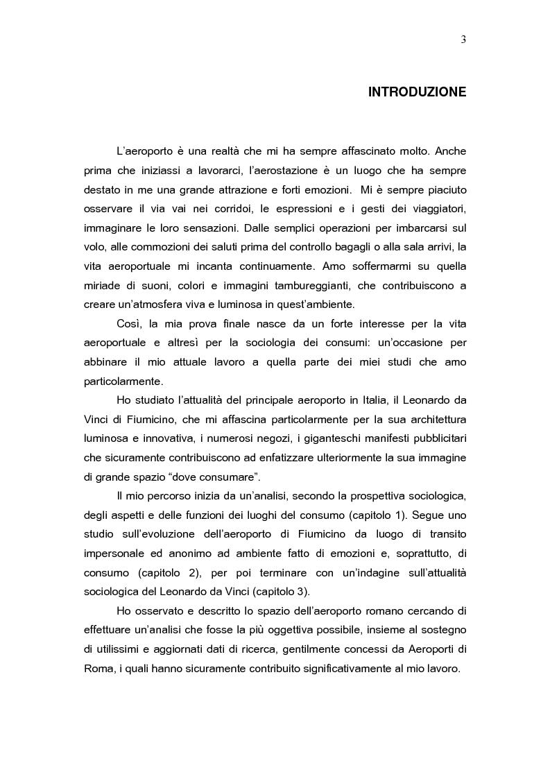Anteprima della tesi: L'aeroporto come luogo del consumo: il caso Fiumicino., Pagina 1