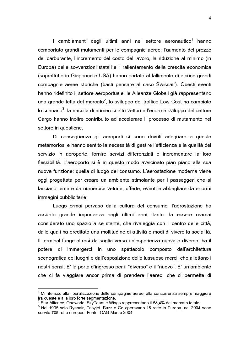 Anteprima della tesi: L'aeroporto come luogo del consumo: il caso Fiumicino., Pagina 2