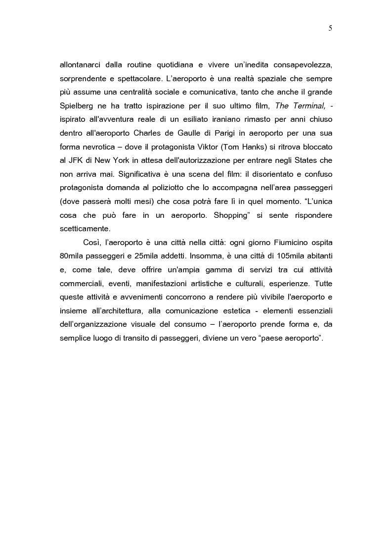 Anteprima della tesi: L'aeroporto come luogo del consumo: il caso Fiumicino., Pagina 3