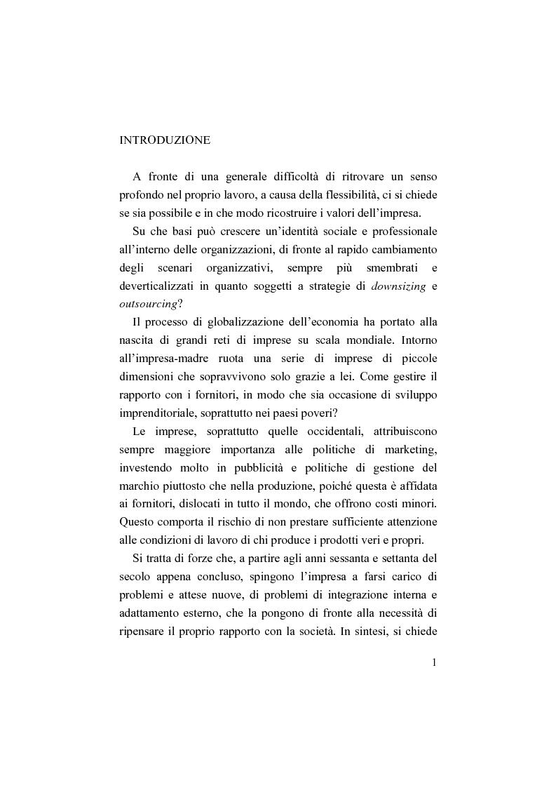 Anteprima della tesi: Il bilancio sociale. Processi di integrazione lavorativa e costruzione della cultura organizzativa, Pagina 1