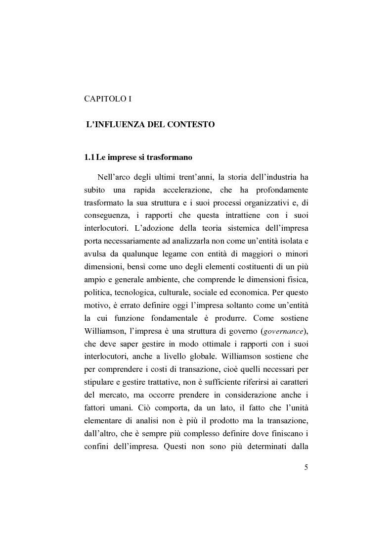 Anteprima della tesi: Il bilancio sociale. Processi di integrazione lavorativa e costruzione della cultura organizzativa, Pagina 5