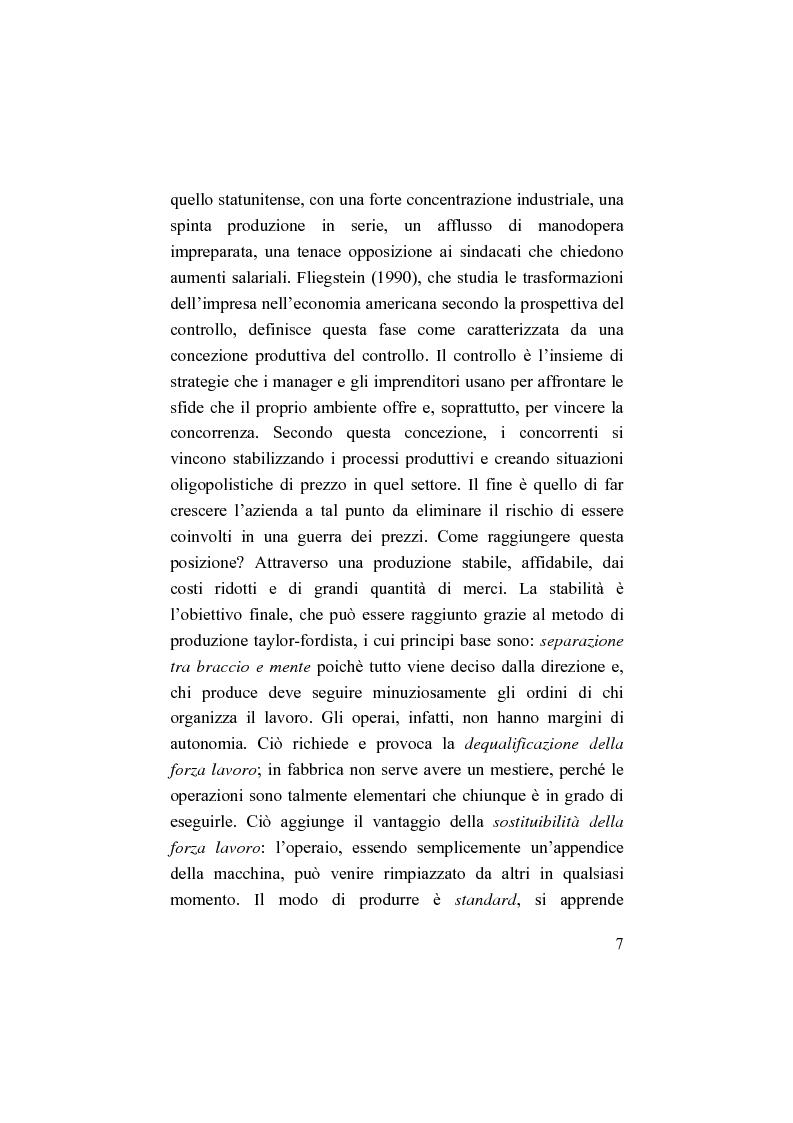 Anteprima della tesi: Il bilancio sociale. Processi di integrazione lavorativa e costruzione della cultura organizzativa, Pagina 7