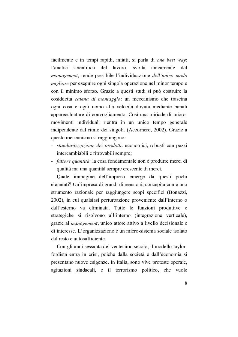 Anteprima della tesi: Il bilancio sociale. Processi di integrazione lavorativa e costruzione della cultura organizzativa, Pagina 8