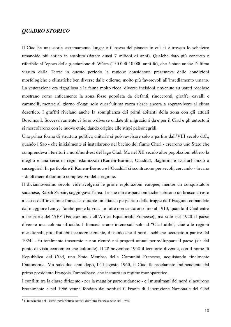 """Anteprima della tesi: I Toubou del Ciad, """"razza fossile vivente"""": valutazioni sul turismo etnologico esistente e potenziale, Pagina 10"""