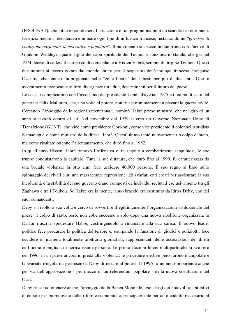 """Anteprima della tesi: I Toubou del Ciad, """"razza fossile vivente"""": valutazioni sul turismo etnologico esistente e potenziale, Pagina 11"""