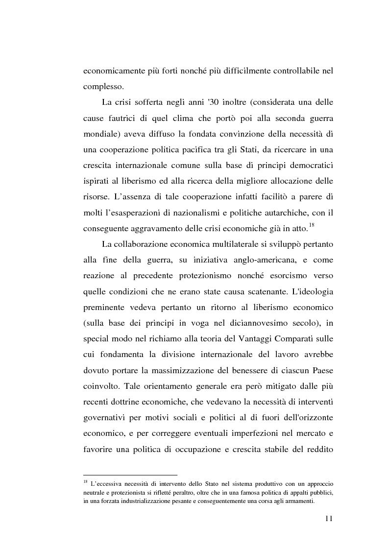 Anteprima della tesi: Il dumping e l'antidumping nell'Organizzazione Mondiale del Commercio, Pagina 11