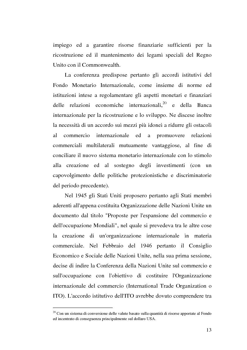 Anteprima della tesi: Il dumping e l'antidumping nell'Organizzazione Mondiale del Commercio, Pagina 13