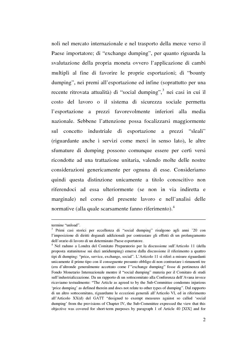 Anteprima della tesi: Il dumping e l'antidumping nell'Organizzazione Mondiale del Commercio, Pagina 2