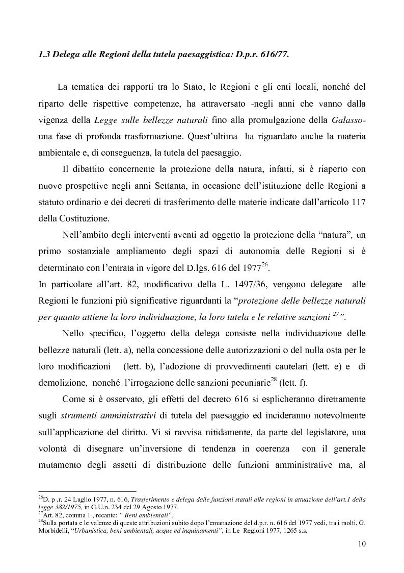 Anteprima della tesi: La Tutela del Paesaggio, Pagina 10
