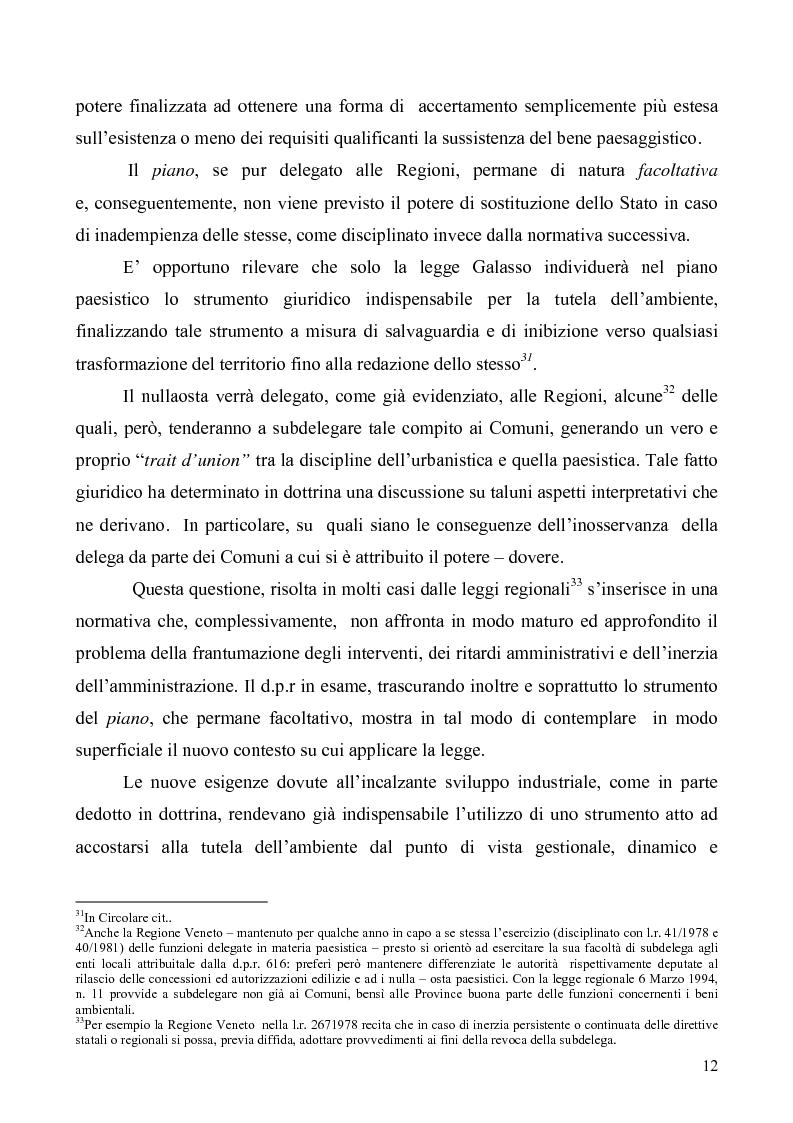 Anteprima della tesi: La Tutela del Paesaggio, Pagina 12