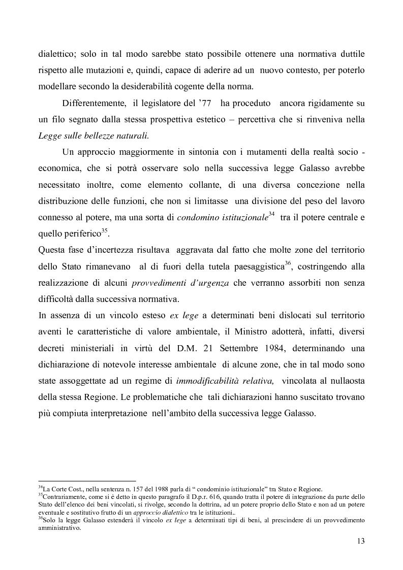 Anteprima della tesi: La Tutela del Paesaggio, Pagina 13