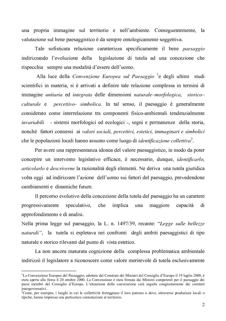 Anteprima della tesi: La Tutela del Paesaggio, Pagina 2