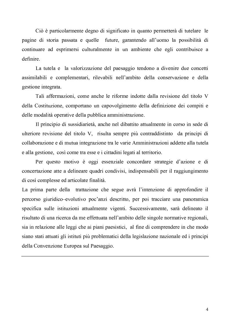 Anteprima della tesi: La Tutela del Paesaggio, Pagina 4
