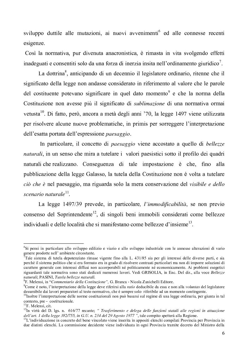 Anteprima della tesi: La Tutela del Paesaggio, Pagina 6