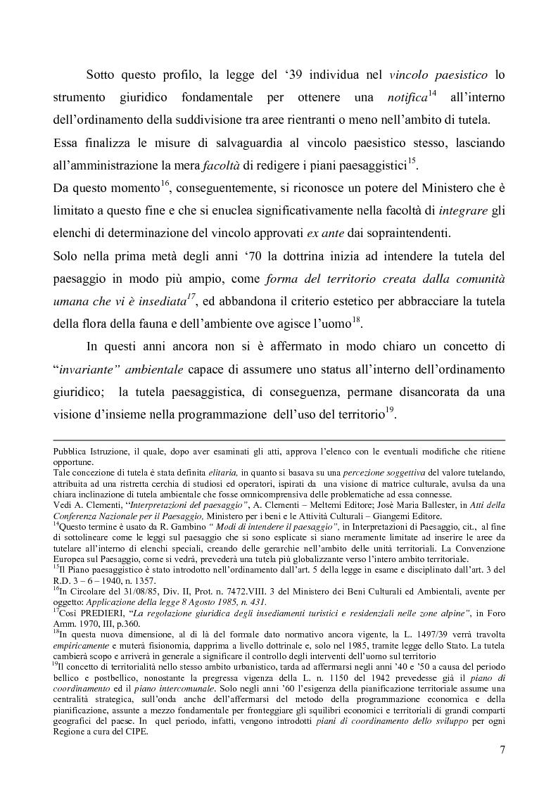 Anteprima della tesi: La Tutela del Paesaggio, Pagina 7