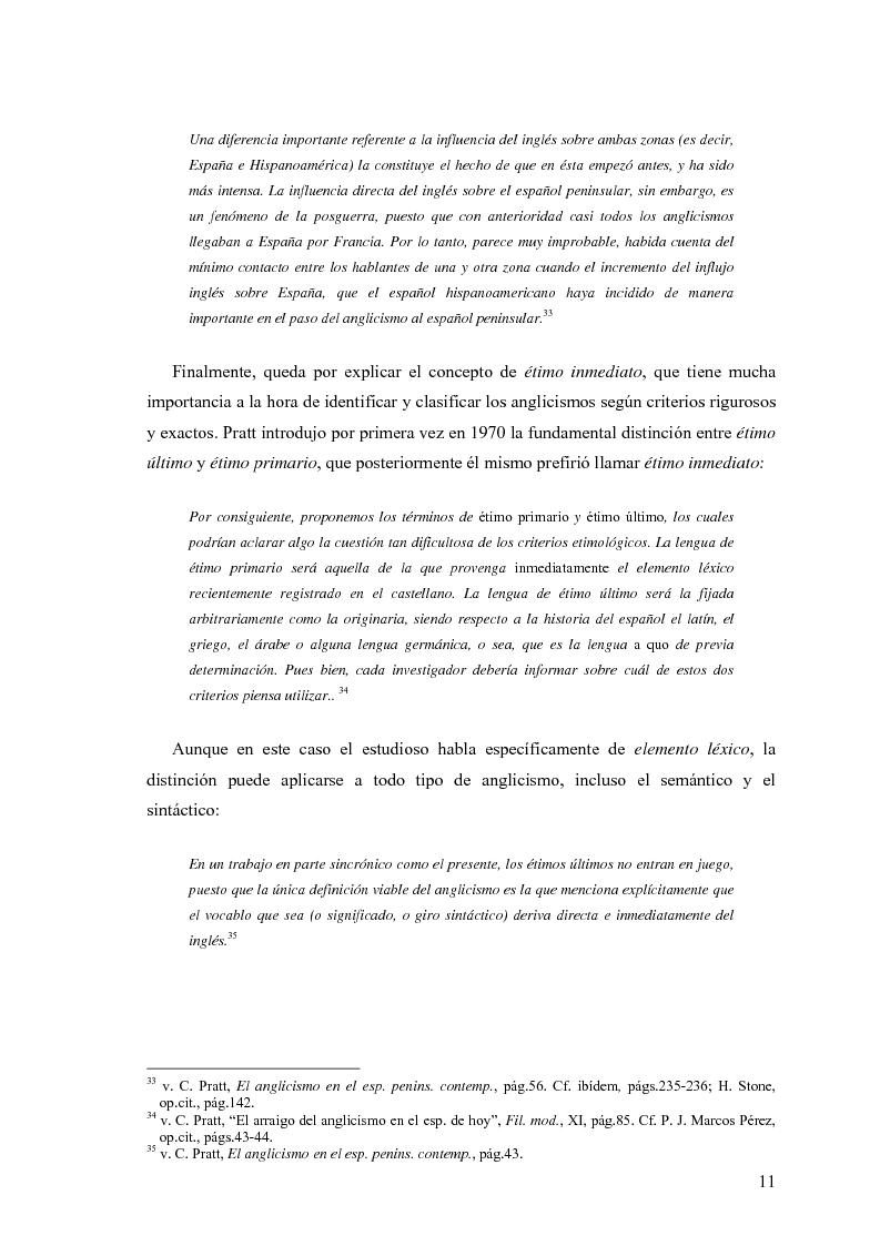 Anteprima della tesi: La influencia de la lengua inglesa en el español contemporáneo, Pagina 10