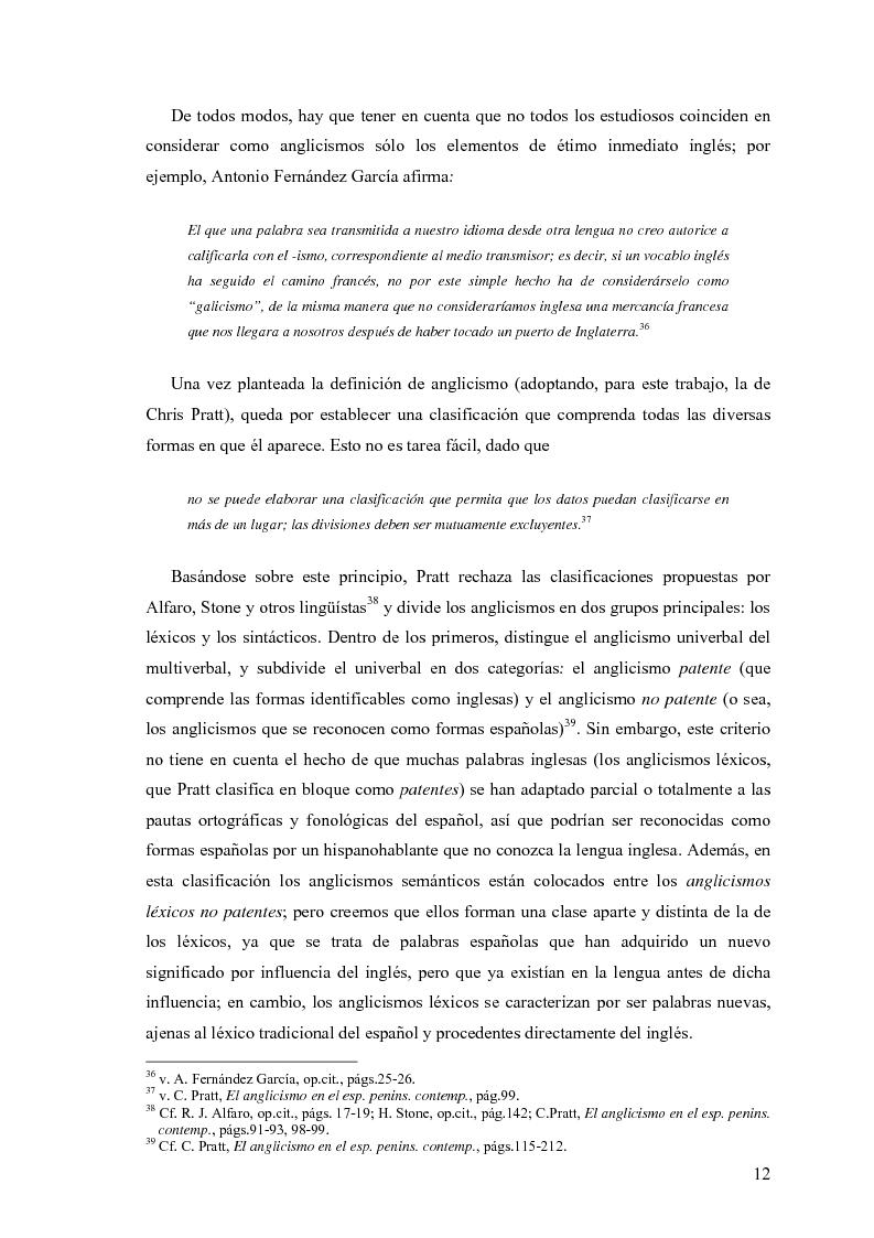 Anteprima della tesi: La influencia de la lengua inglesa en el español contemporáneo, Pagina 11