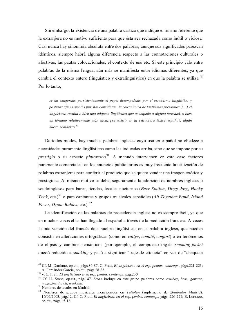 Anteprima della tesi: La influencia de la lengua inglesa en el español contemporáneo, Pagina 15
