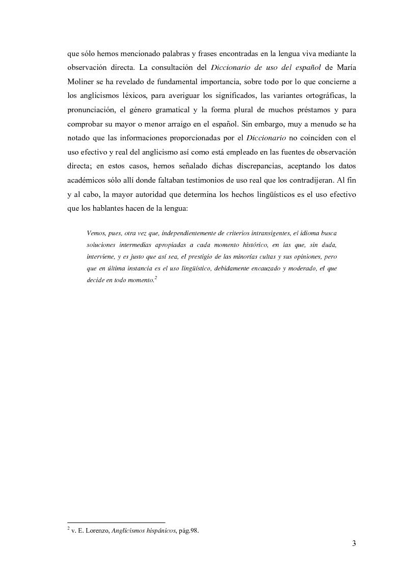 Anteprima della tesi: La influencia de la lengua inglesa en el español contemporáneo, Pagina 2
