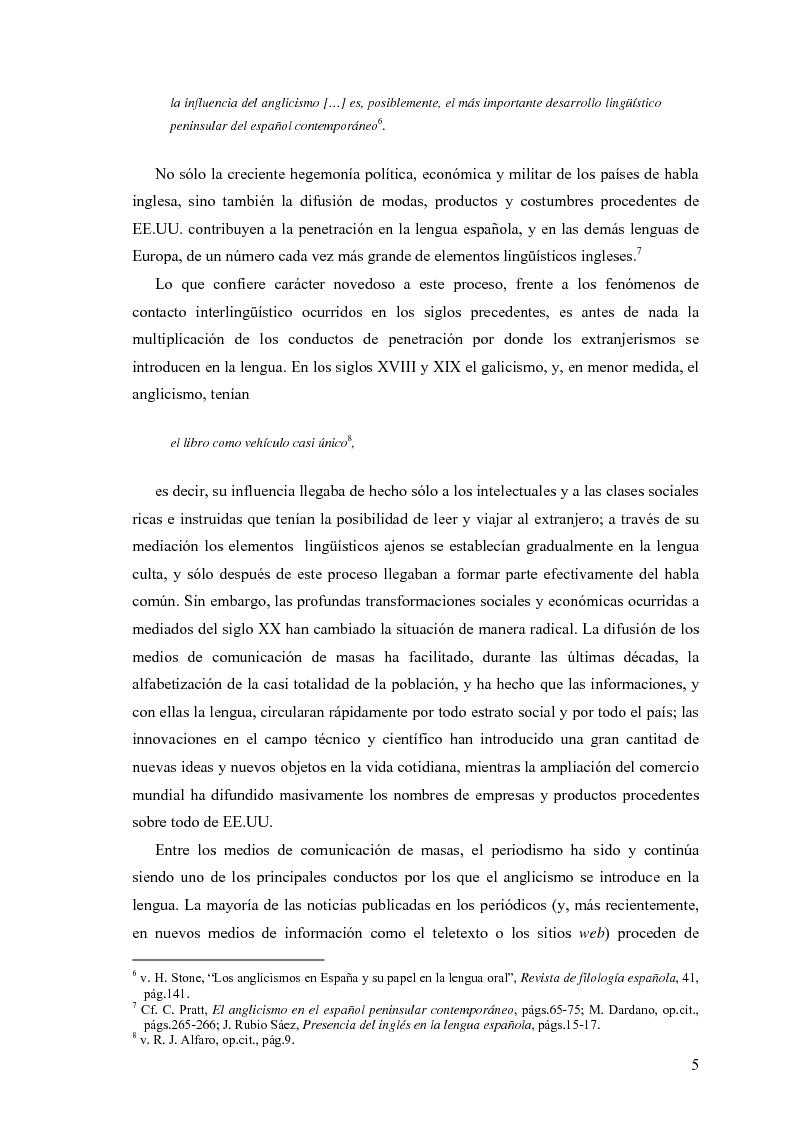 Anteprima della tesi: La influencia de la lengua inglesa en el español contemporáneo, Pagina 4