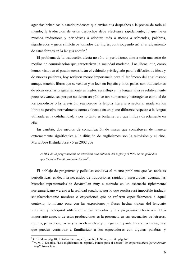 Anteprima della tesi: La influencia de la lengua inglesa en el español contemporáneo, Pagina 5
