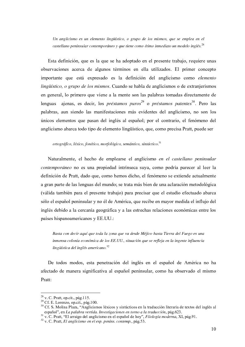 Anteprima della tesi: La influencia de la lengua inglesa en el español contemporáneo, Pagina 9