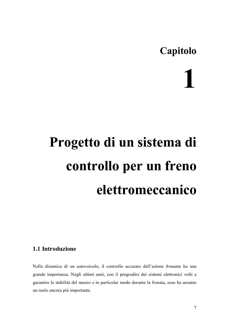 Anteprima della tesi: Modellistica e controllo di un freno elettromeccanico, Pagina 1