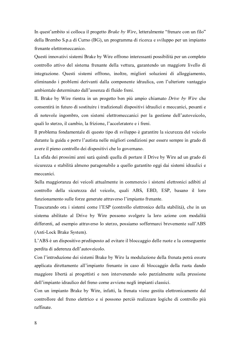Anteprima della tesi: Modellistica e controllo di un freno elettromeccanico, Pagina 2