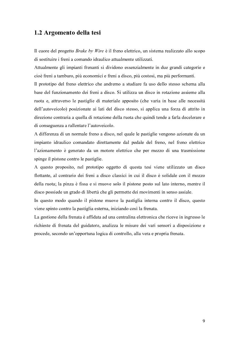 Anteprima della tesi: Modellistica e controllo di un freno elettromeccanico, Pagina 3
