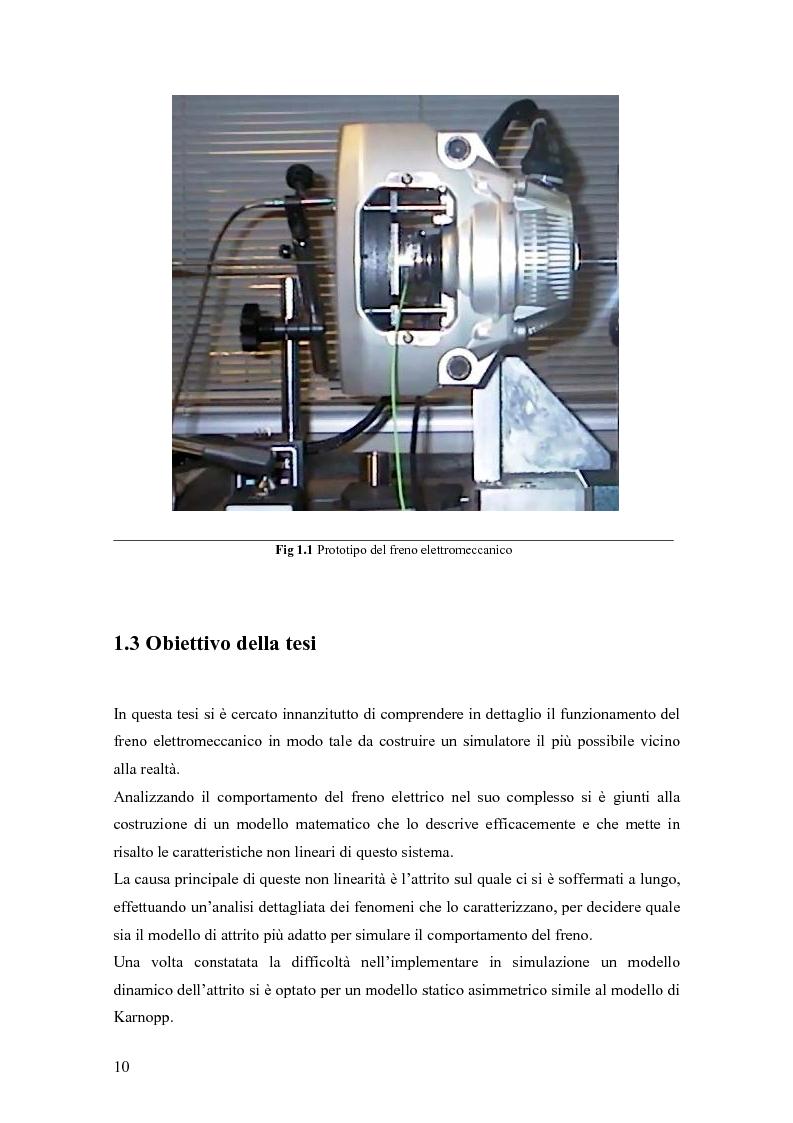 Anteprima della tesi: Modellistica e controllo di un freno elettromeccanico, Pagina 4