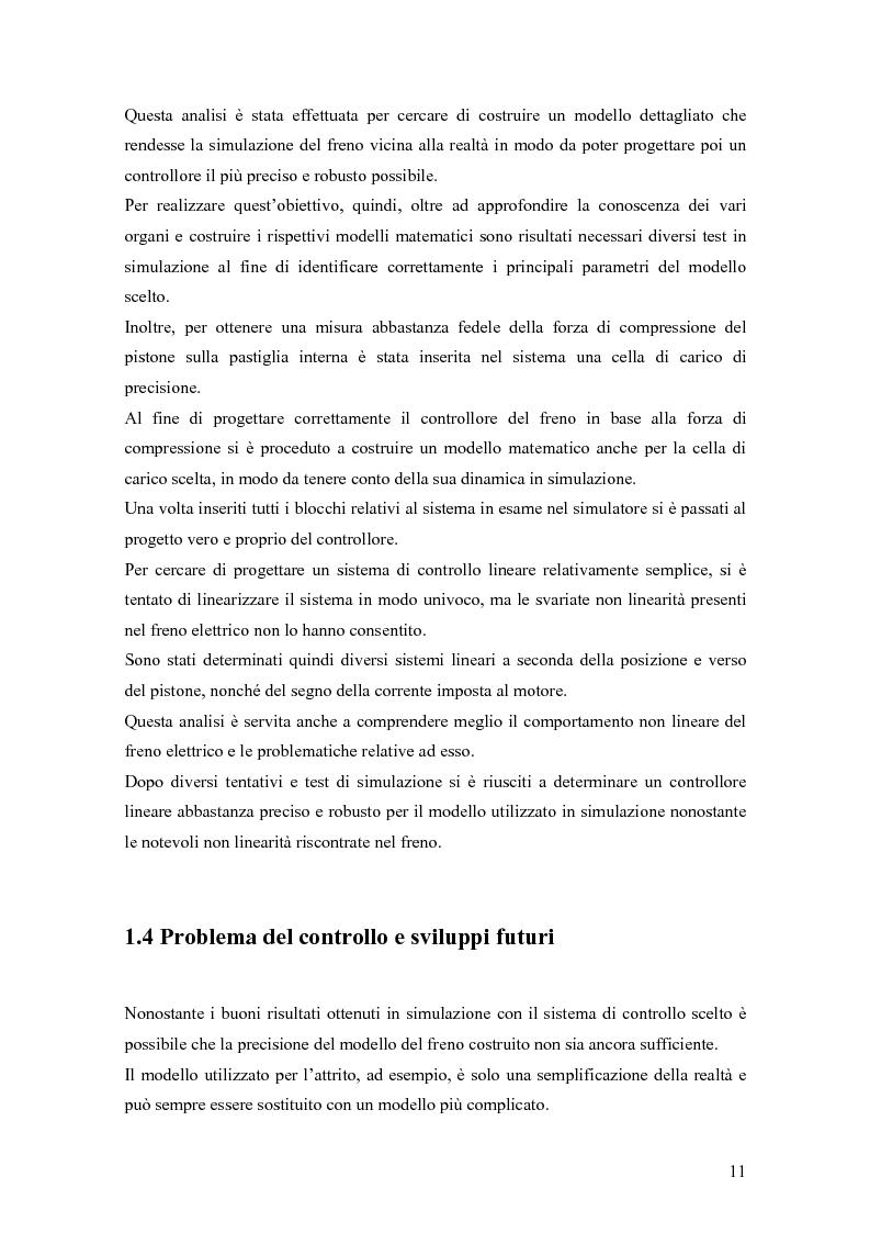 Anteprima della tesi: Modellistica e controllo di un freno elettromeccanico, Pagina 5
