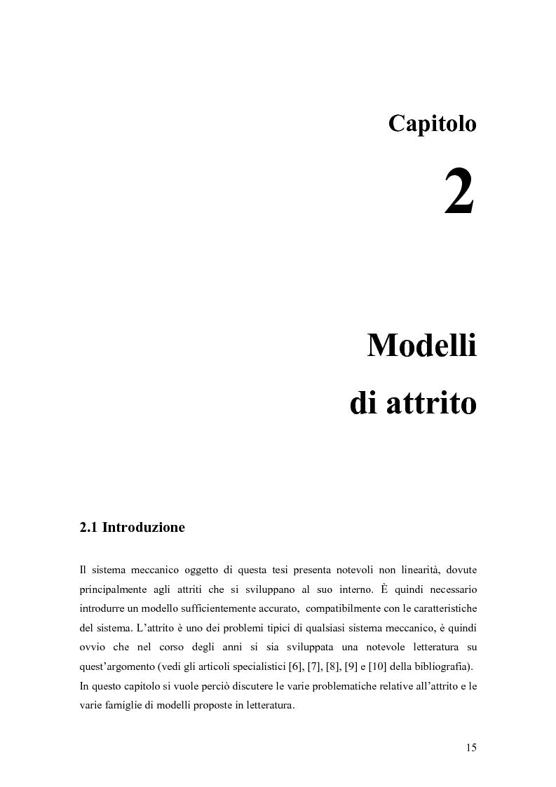 Anteprima della tesi: Modellistica e controllo di un freno elettromeccanico, Pagina 9