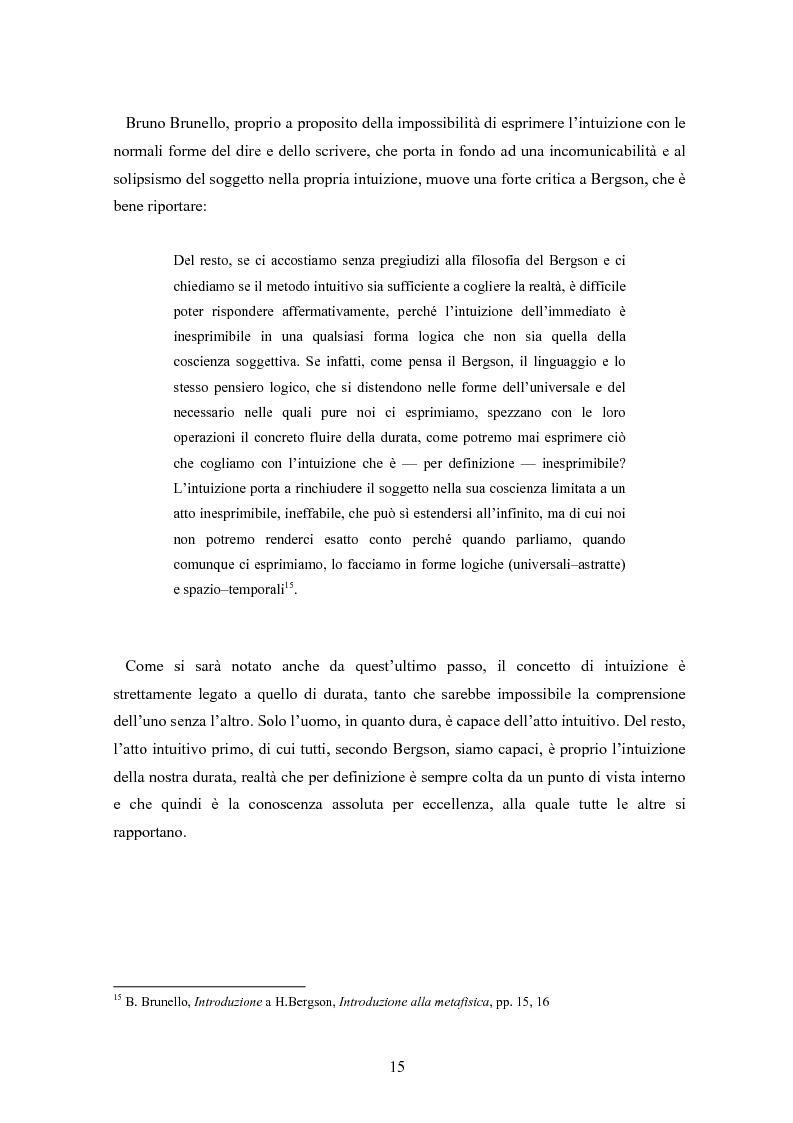Anteprima della tesi: Bergson e Lévinas: emozione creatrice ed alterità, Pagina 11