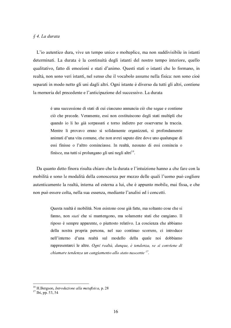 Anteprima della tesi: Bergson e Lévinas: emozione creatrice ed alterità, Pagina 12