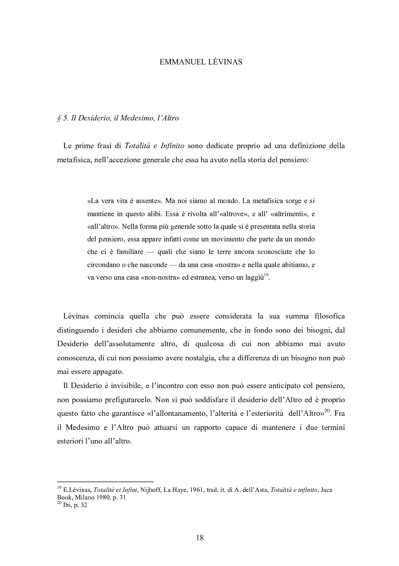 Anteprima della tesi: Bergson e Lévinas: emozione creatrice ed alterità, Pagina 14