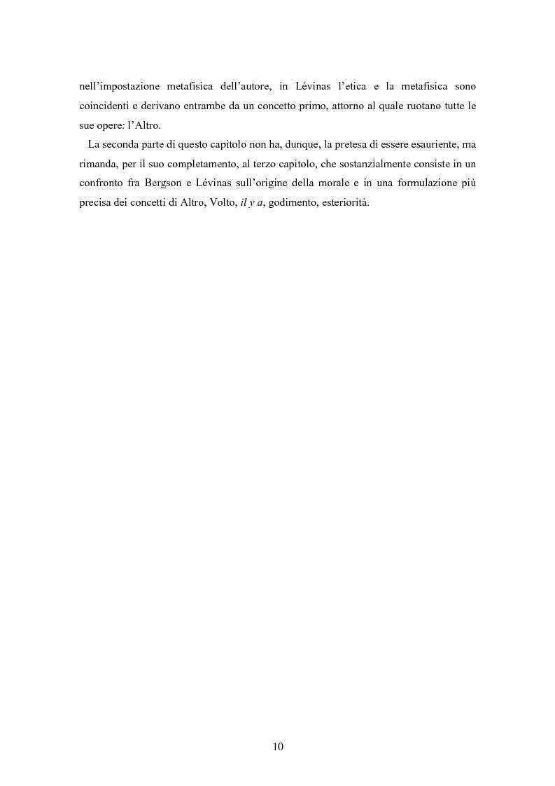 Anteprima della tesi: Bergson e Lévinas: emozione creatrice ed alterità, Pagina 6