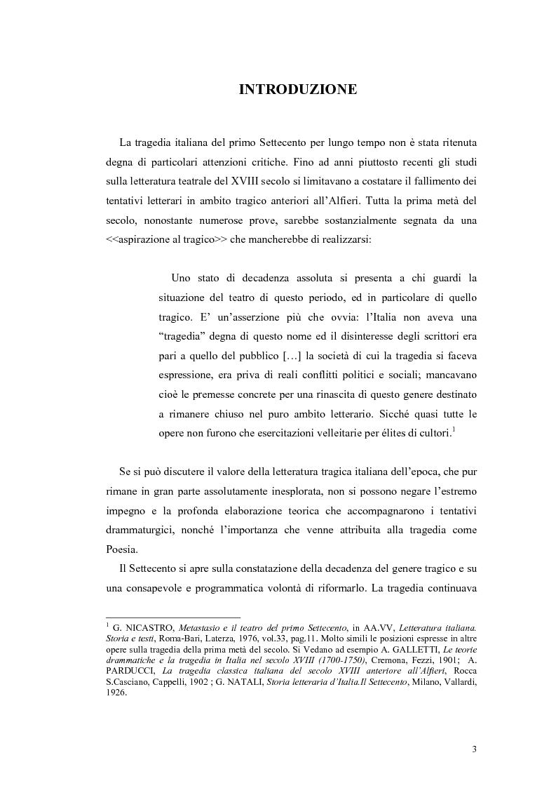 Anteprima della tesi: Tragedie a lieto fine del primo Settecento, Pagina 1