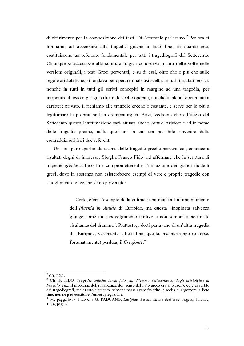 Anteprima della tesi: Tragedie a lieto fine del primo Settecento, Pagina 10