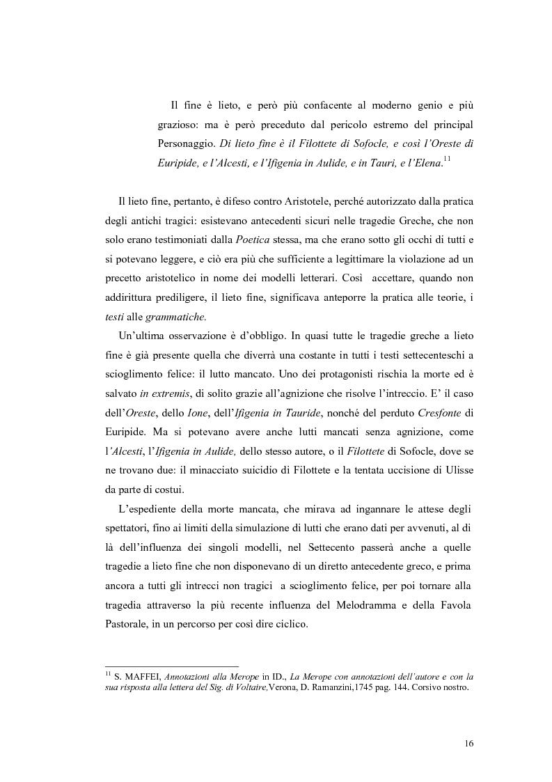 Anteprima della tesi: Tragedie a lieto fine del primo Settecento, Pagina 14
