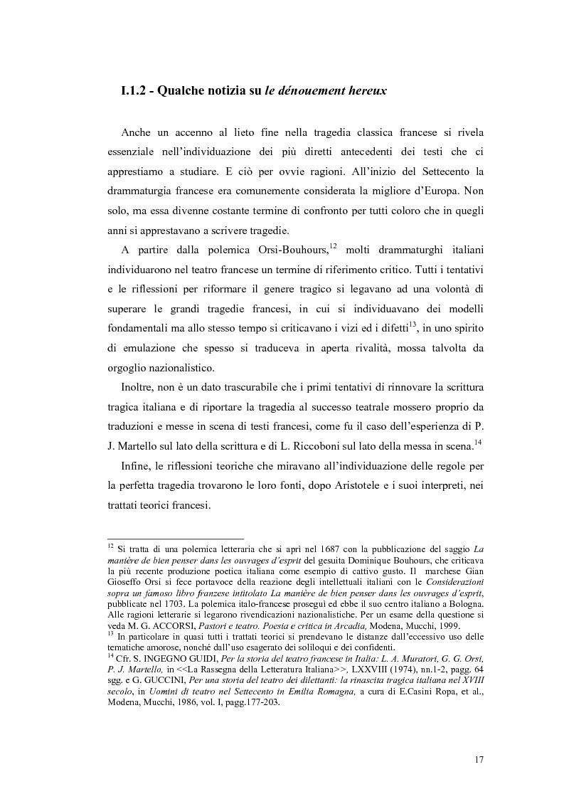 Anteprima della tesi: Tragedie a lieto fine del primo Settecento, Pagina 15